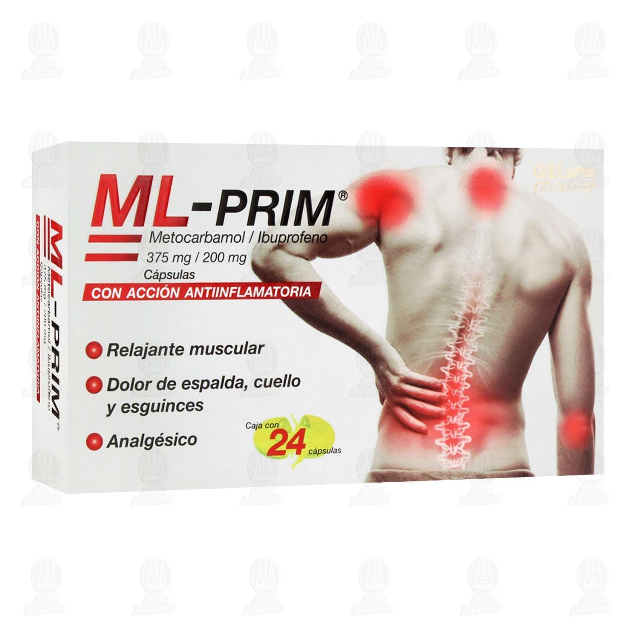 Comprar ML-PRIM 375mg/200mg 24 Cápsulas en Farmacias Guadalajara