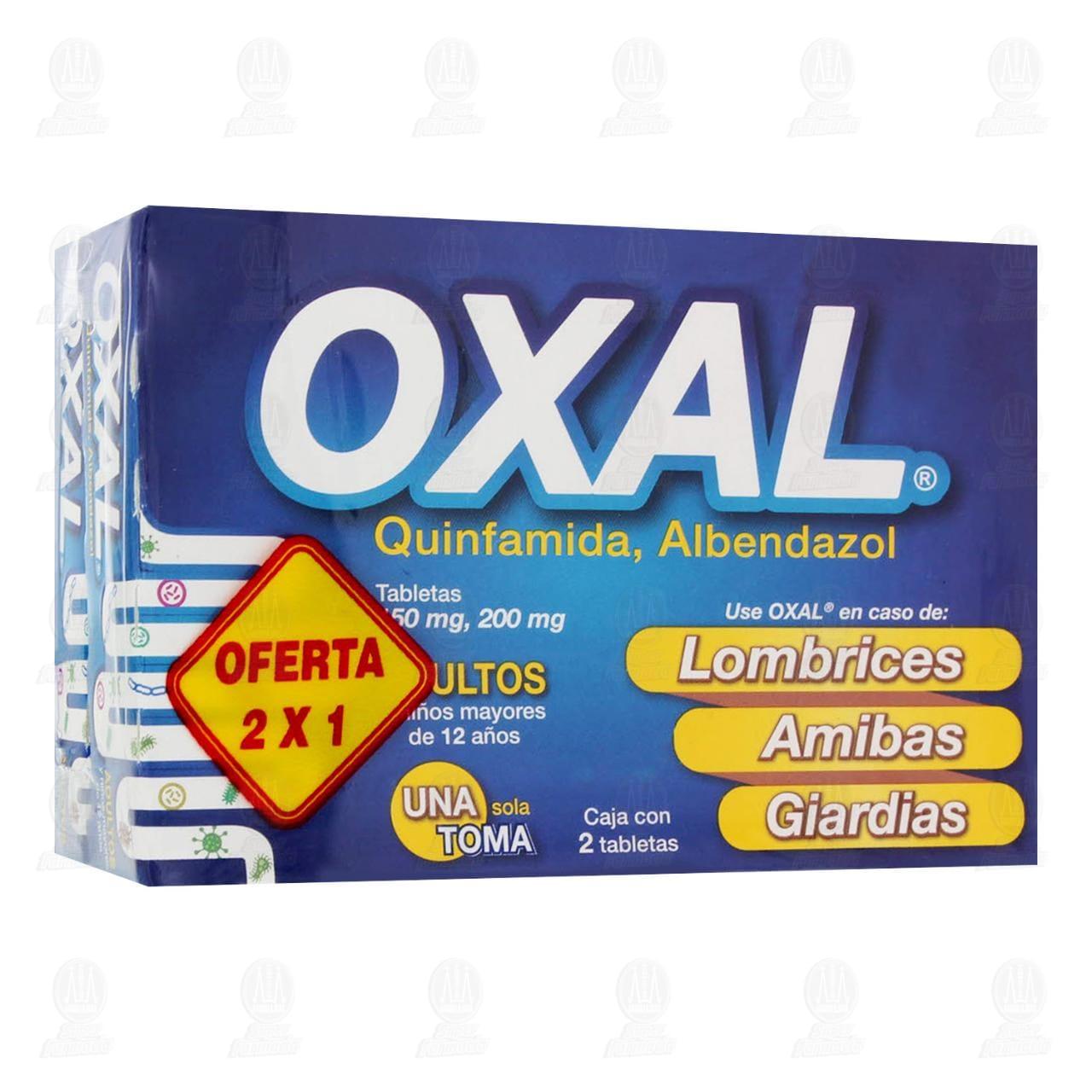 Comprar Oxal 150mg/200mg 2 Cajas con 2 Tabletas c/u en Farmacias Guadalajara