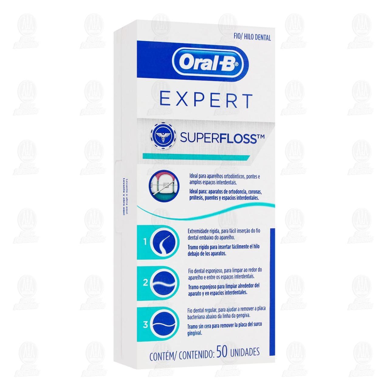 Comprar Hilo Dental Oral-B Expert SuperFloss, 50 pzas. en Farmacias Guadalajara