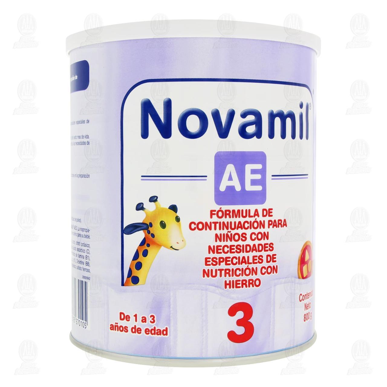 Comprar Fórmula Láctea Novamil AE Etapa 3 en Polvo (Edad 1-3 Años), 800 gr. en Farmacias Guadalajara