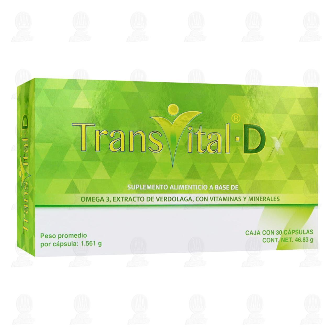 Comprar Suplemento Alimenticio Transvital-D 30 Cápsulas en Farmacias Guadalajara