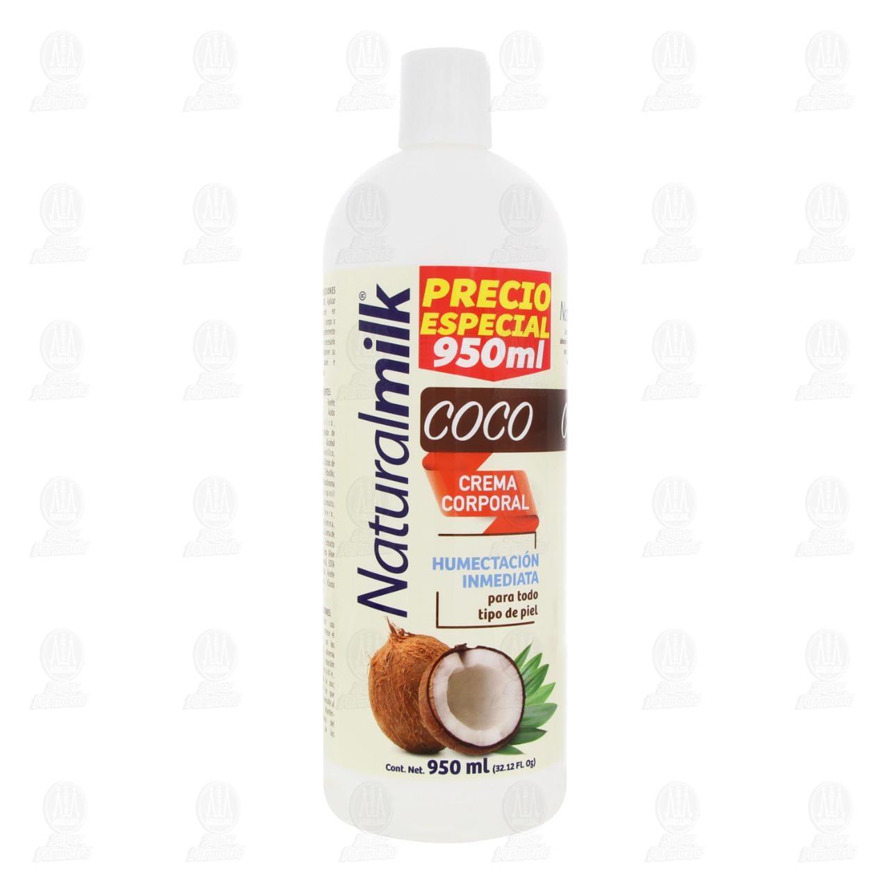 Comprar Crema Corporal Naturalmilk Coco, 950 ml. en Farmacias Guadalajara