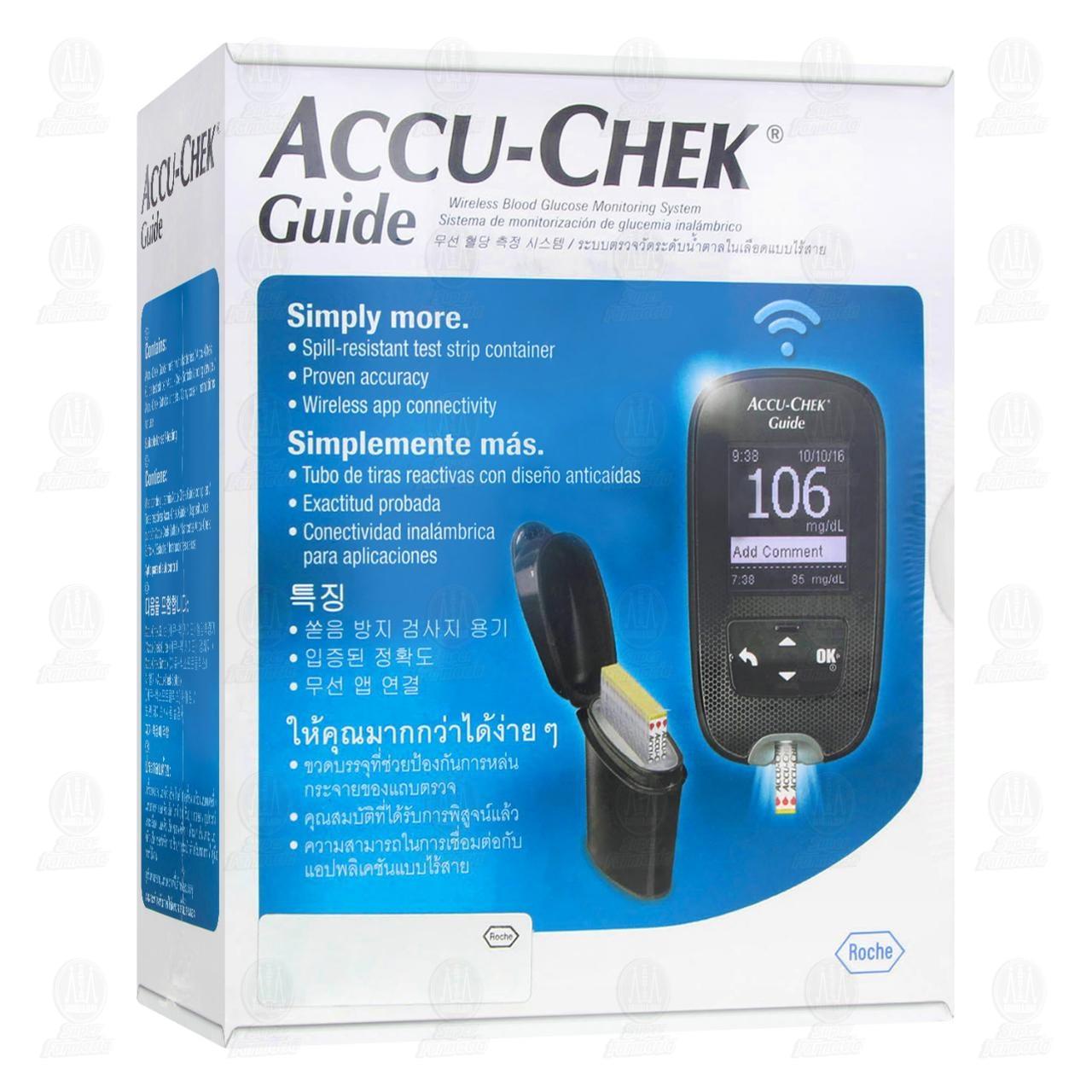 Comprar Accu-Chek Guide Kit para la Medición de Glucosa Inalámbrico 1pz en Farmacias Guadalajara