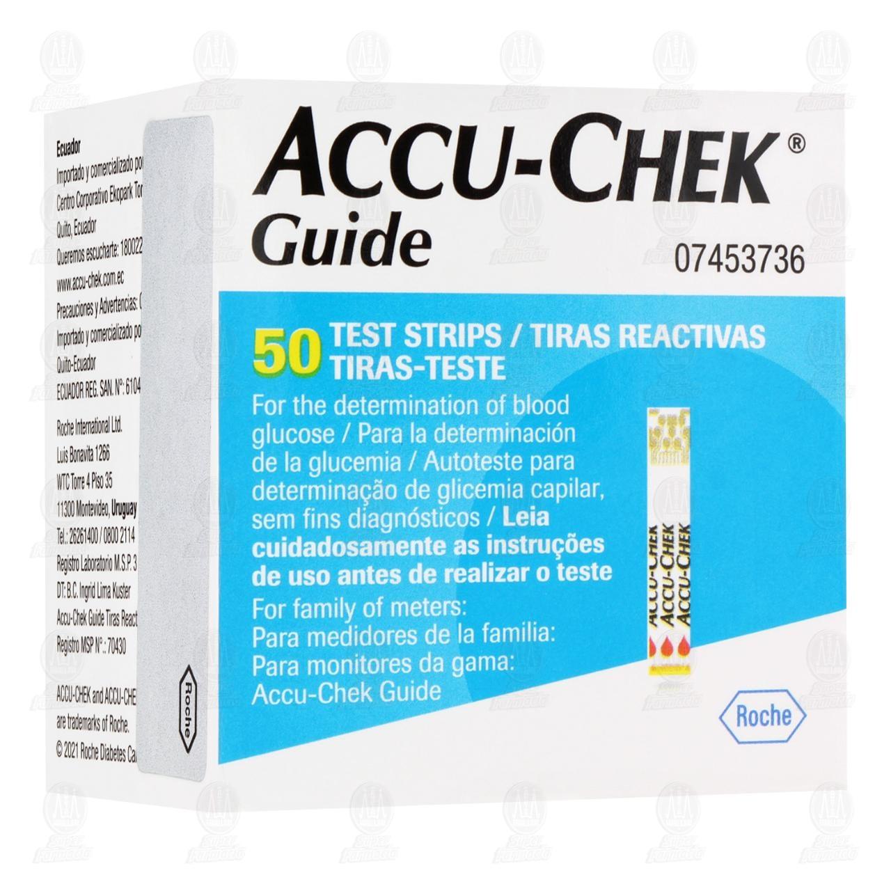 Comprar Accu-chek Guide 50 Tiras Reactivas para Medición de Glucosa en Farmacias Guadalajara