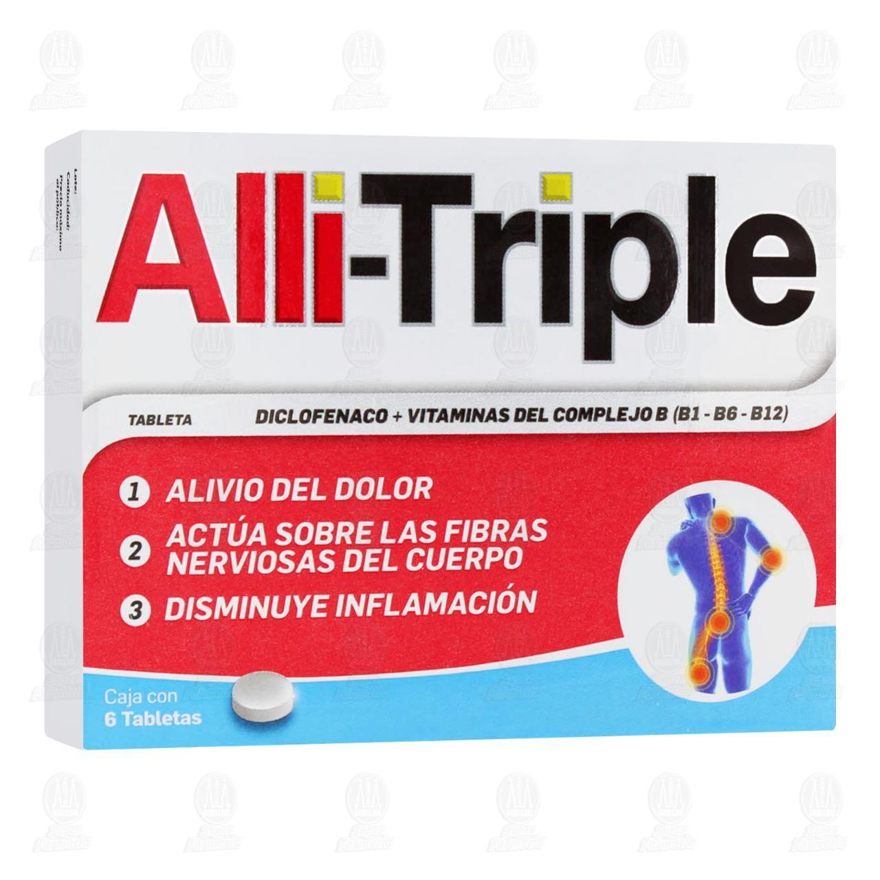 Comprar Alli-Triple 6 Tabletas en Farmacias Guadalajara
