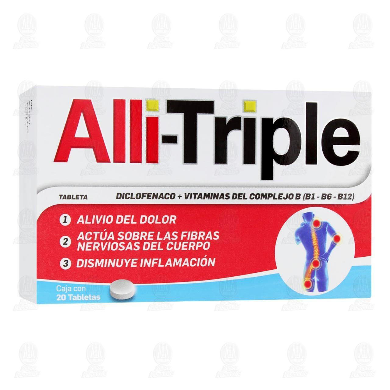 Comprar Alli-Triple 20 Tabletas en Farmacias Guadalajara