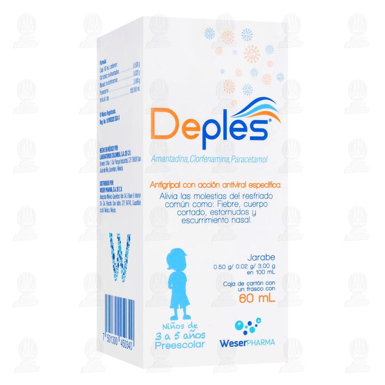 Comprar Deples Prescolar .50/.02/3G Jarabe 60ml en Farmacias Guadalajara