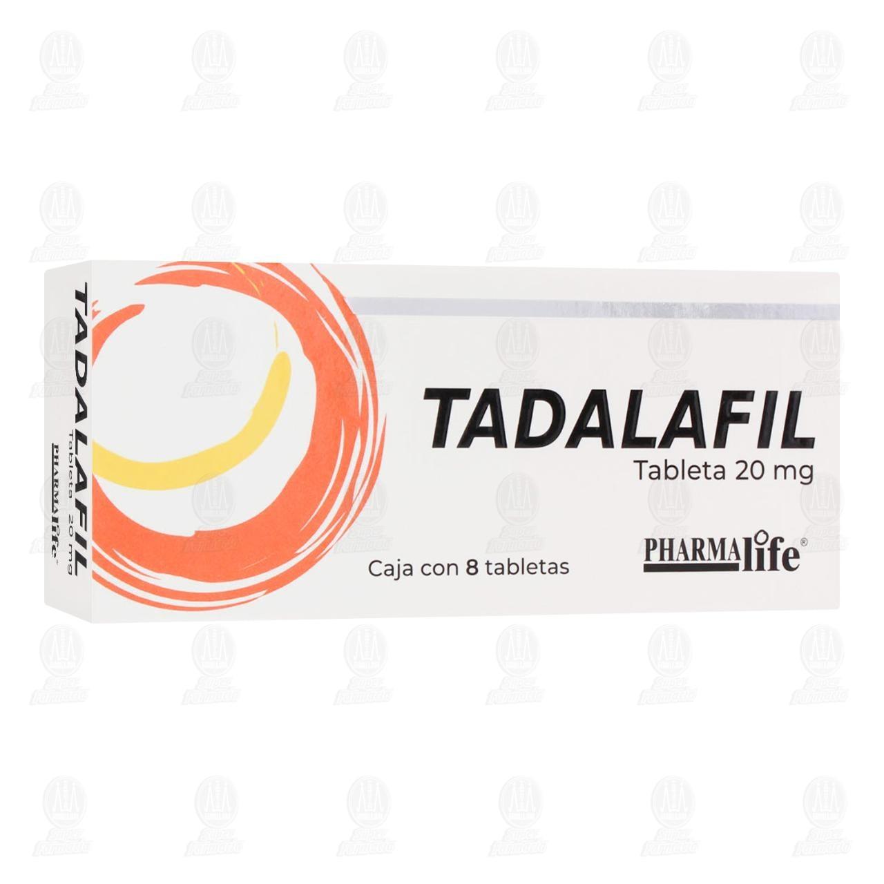 Comprar Tadalafil 20mg 8 Tabletas Pharmalife en Farmacias Guadalajara
