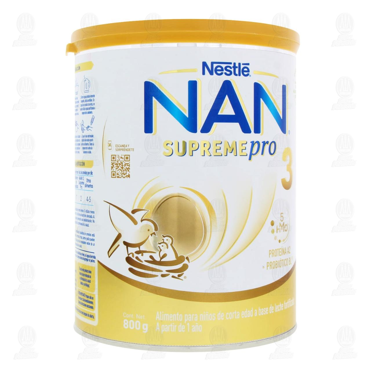 Comprar Fórmula Infantil Nestlé NAN 3 Supreme Pro (A Partir de 1 Año), 800 gr. en Farmacias Guadalajara