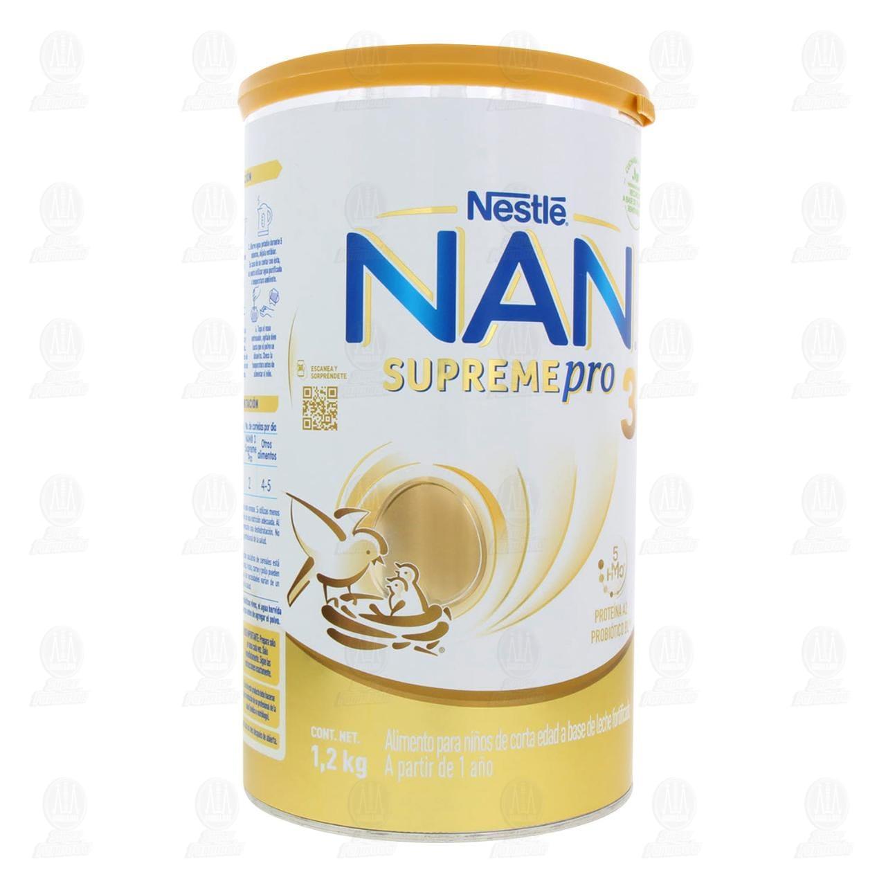 Comprar Fórmula Infantil NAN 3 Supreme Pro (A Partir de 1 Año), 1.2 kg. en Farmacias Guadalajara