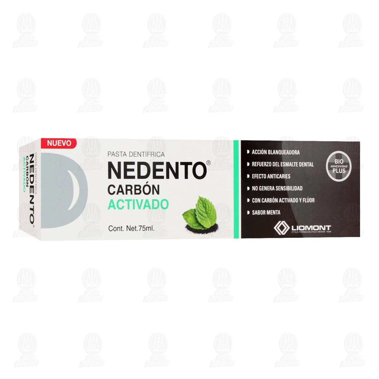 Comprar Pasta Dental Nedento Carbón Activado, 75 ml. en Farmacias Guadalajara