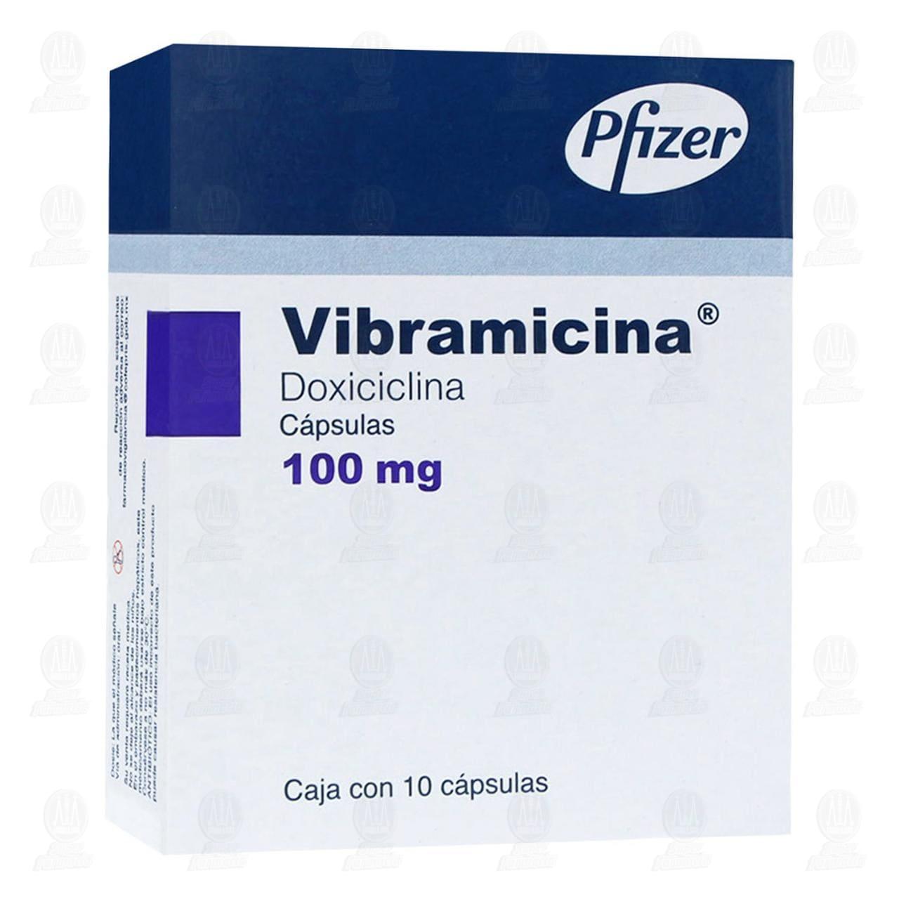 Comprar Vibramicina 100mg 10 Cápsulas en Farmacias Guadalajara