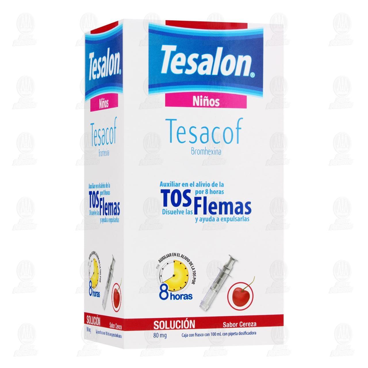 Comprar Tesalon Tesacof Jarabe para la Tos Infantil Sabor Cereza 100ml en Farmacias Guadalajara