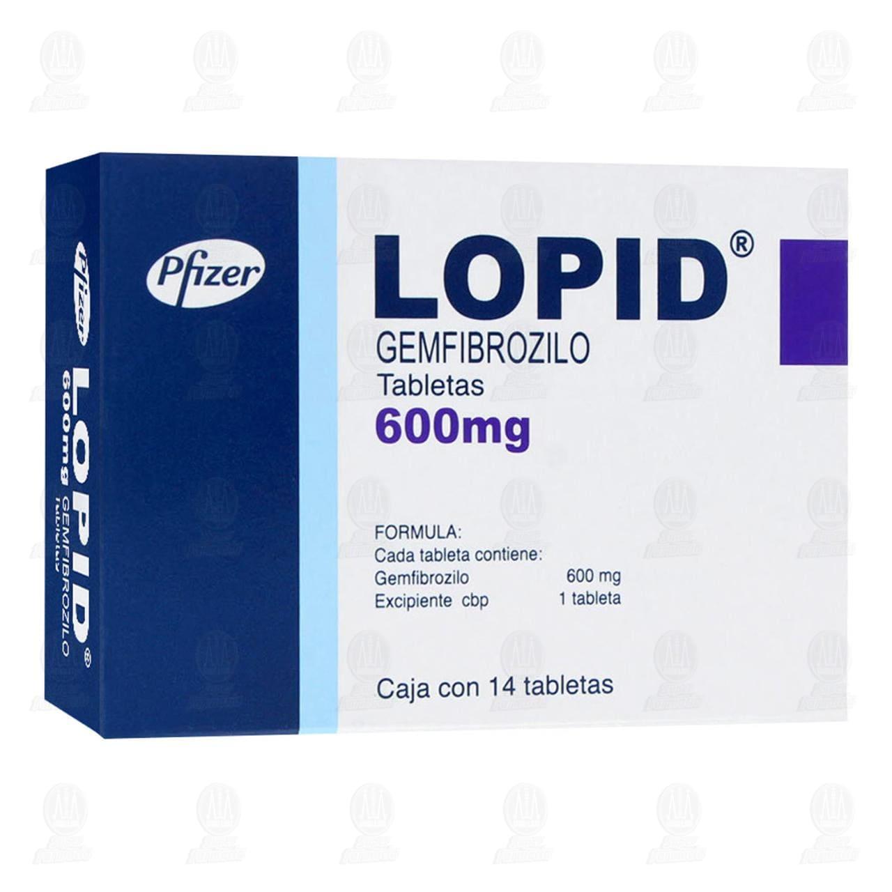 Lopid 600mg 14 Tabletas