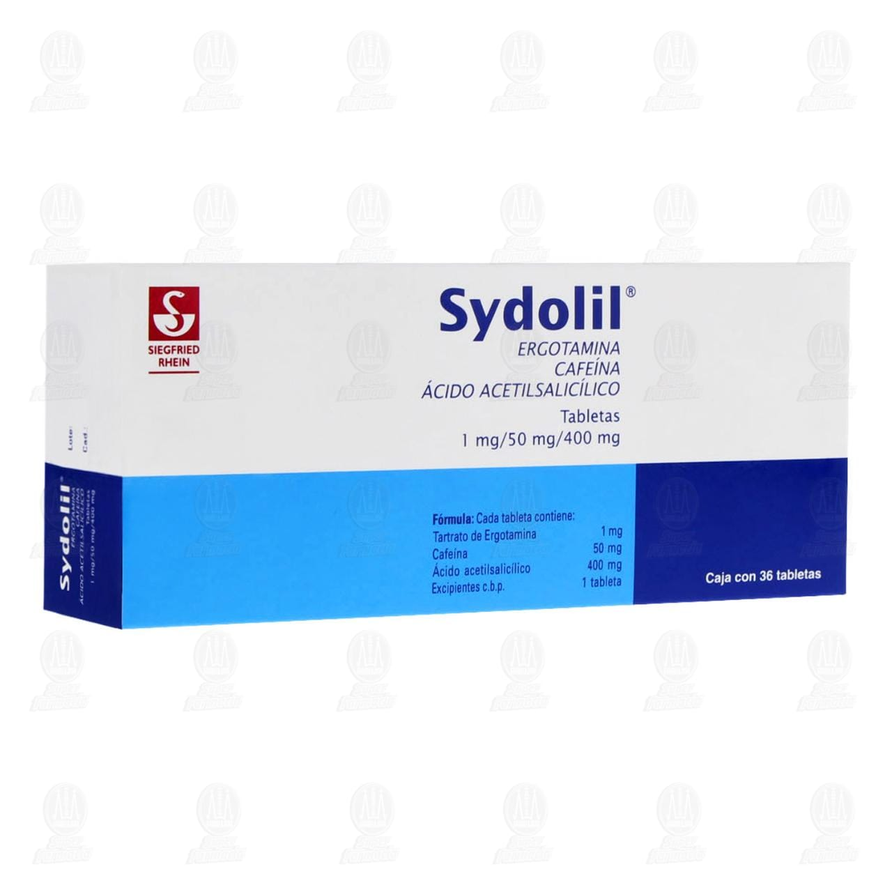 Comprar Sydolil 1mg/50mg/400mg 36 Tabletas en Farmacias Guadalajara