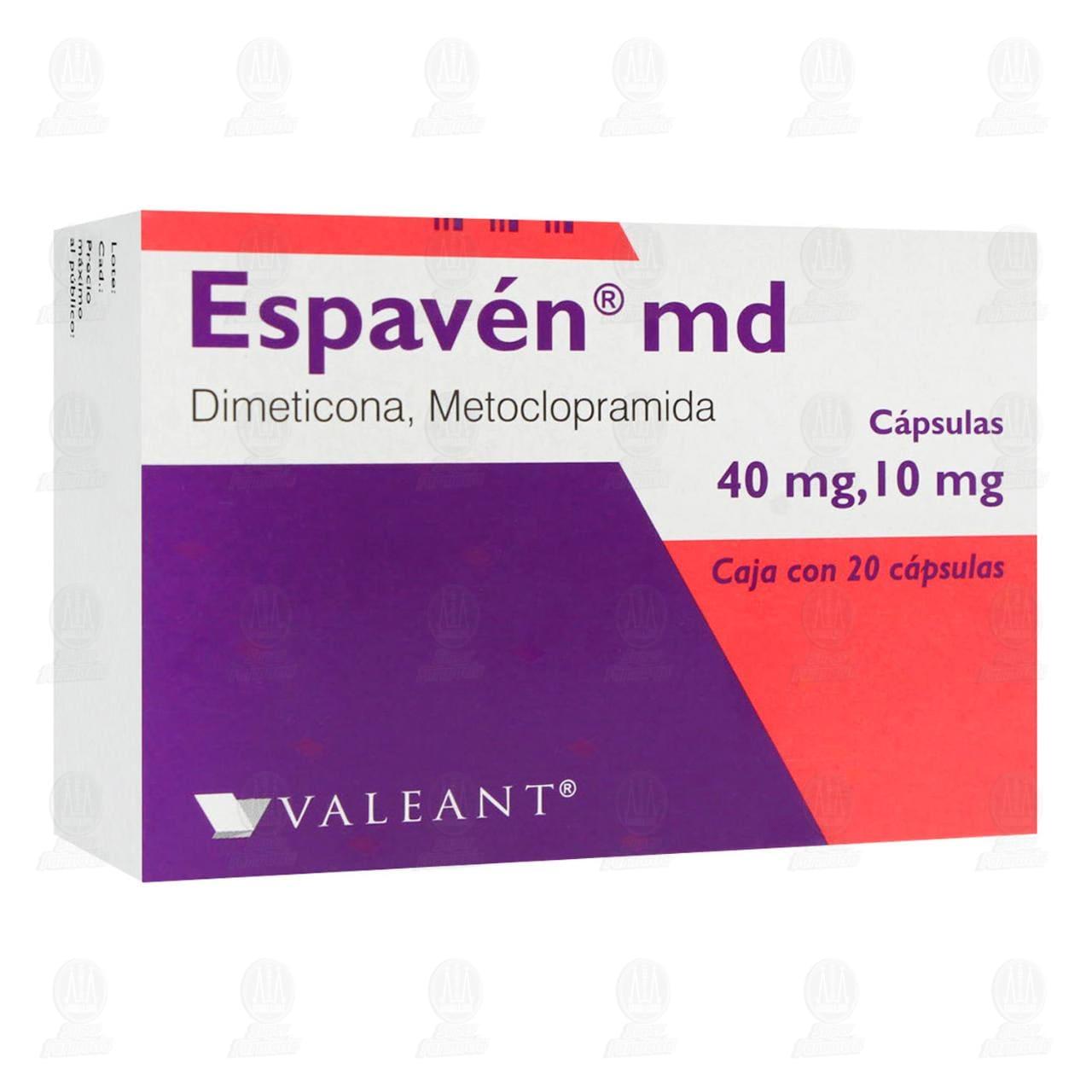 Comprar Espavén md 40mg/10mg 20 Cápsulas en Farmacias Guadalajara