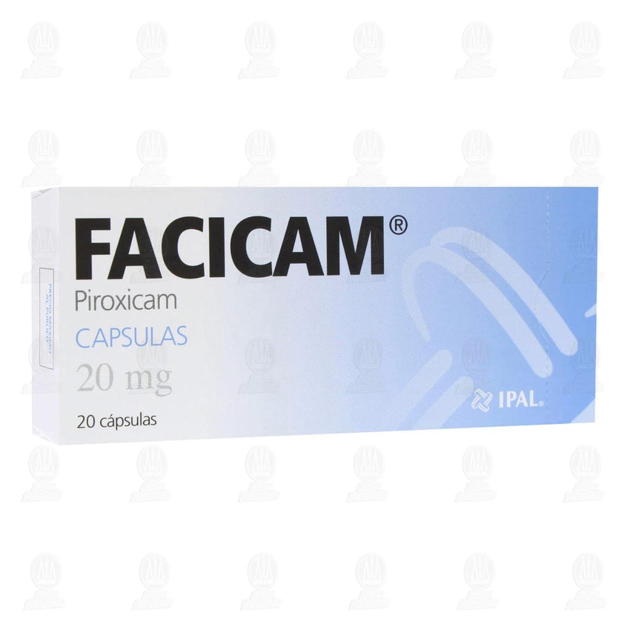 Comprar Facicam 20mg 20 Cápsulas en Farmacias Guadalajara