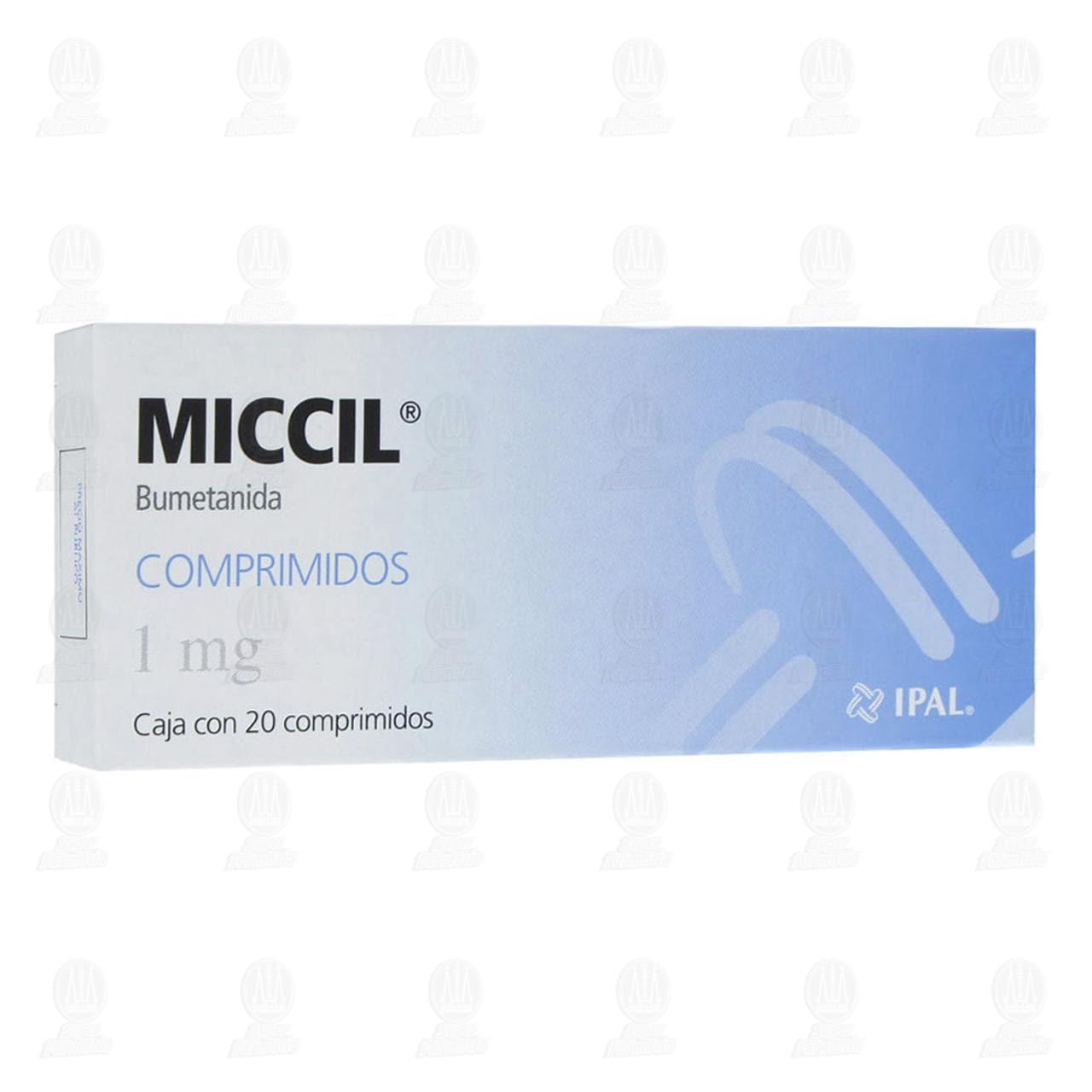 Comprar Miccil 1mg 20 Comprimidos en Farmacias Guadalajara