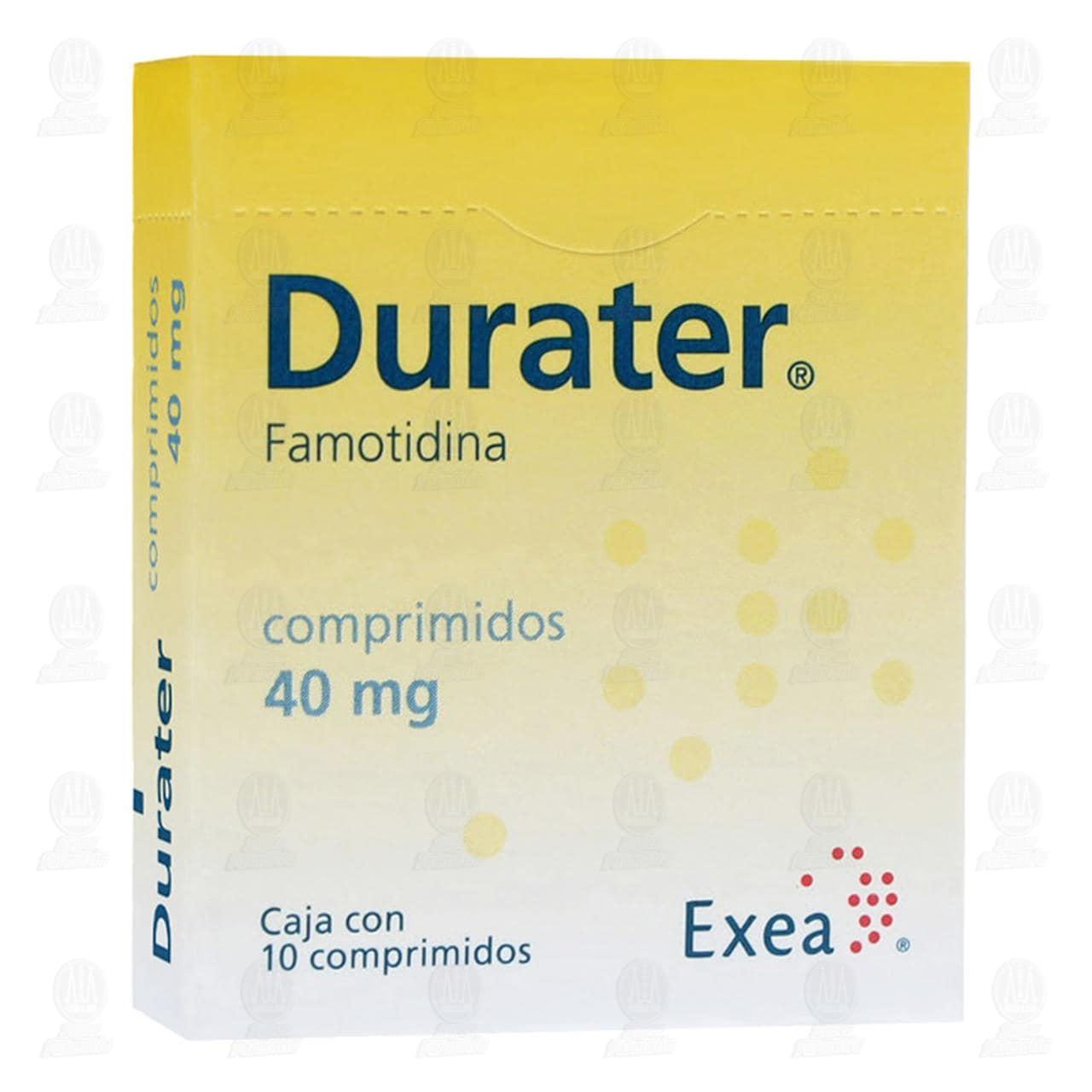 Comprar Durater 40mg 10 Comprimidos en Farmacias Guadalajara