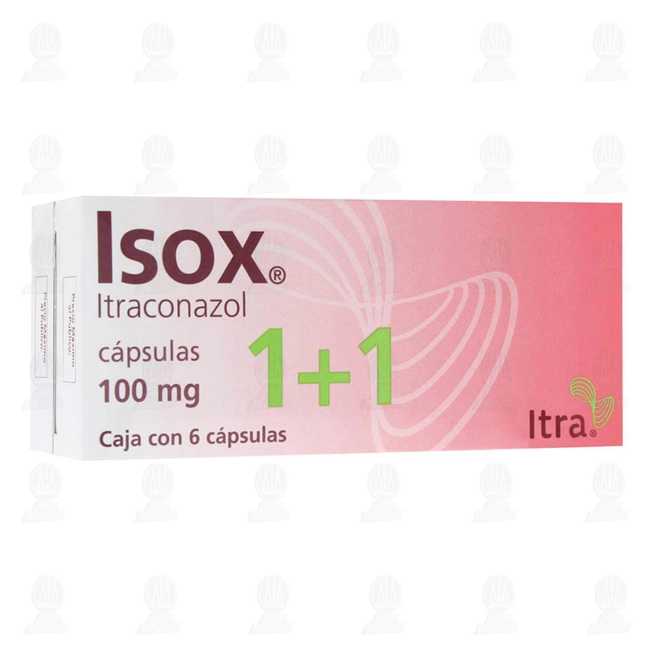 Comprar Isox 100mg 6 Cápsulas 1+1 en Farmacias Guadalajara