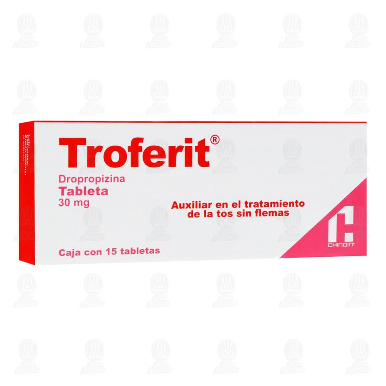 Comprar Troferit 30mg 15 Tabletas en Farmacias Guadalajara