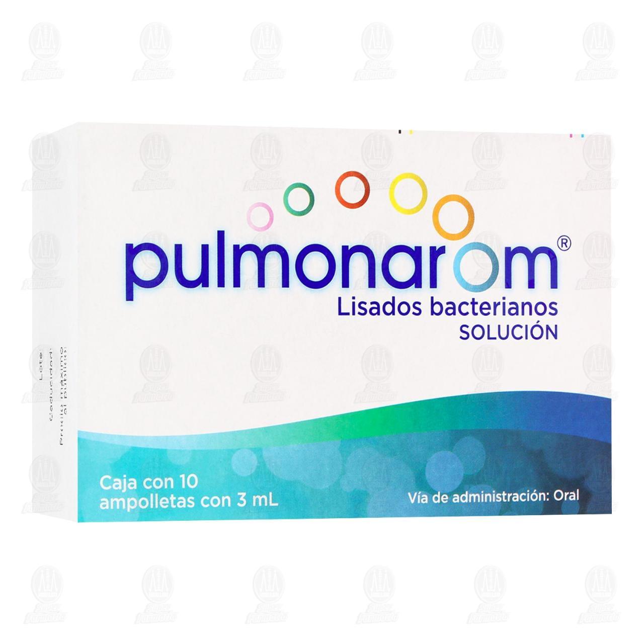 Comprar Pulmonarom Solución Ingerible 3ml 10 Ampolletas en Farmacias Guadalajara