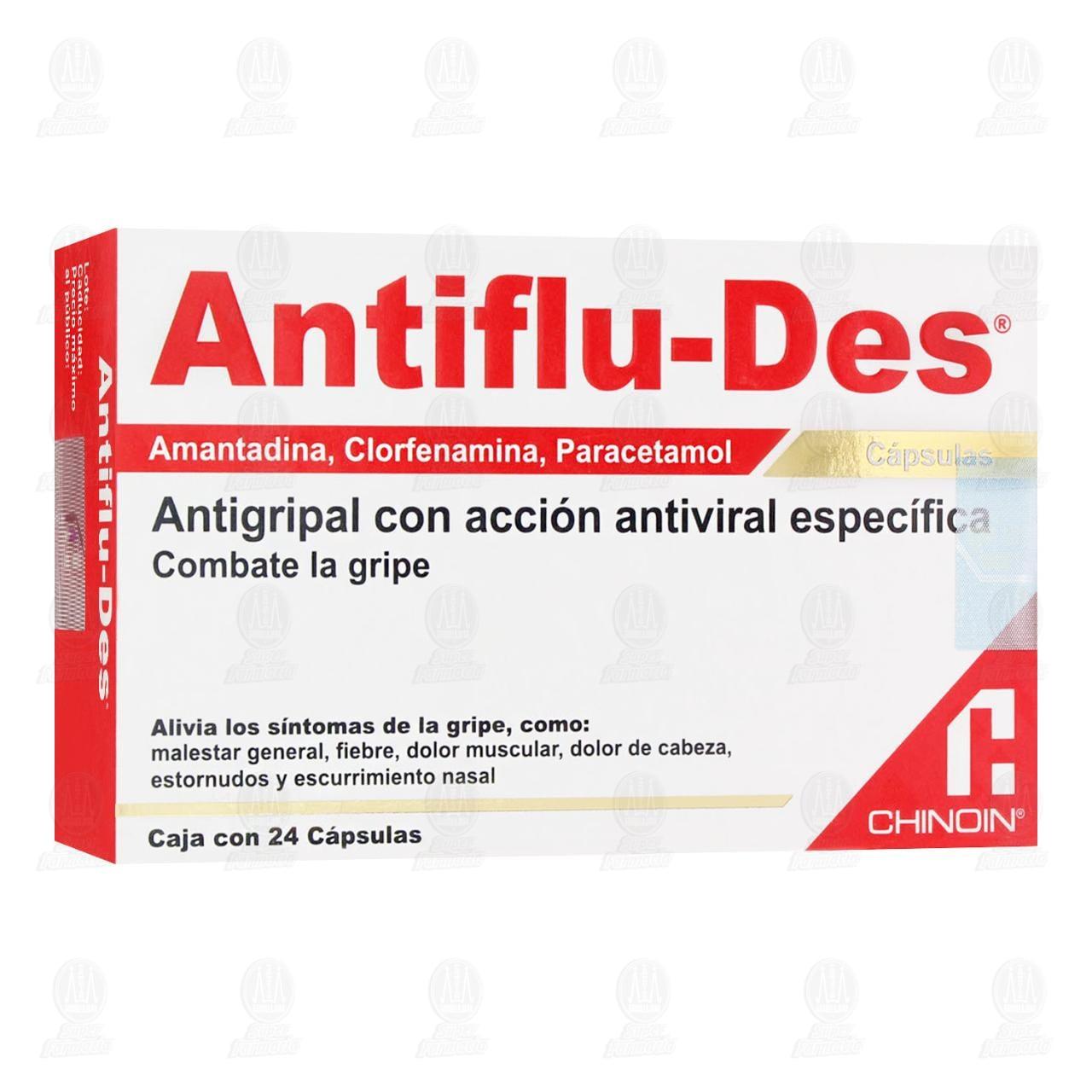 Comprar Antiflu-Des 24 Cápsulas en Farmacias Guadalajara