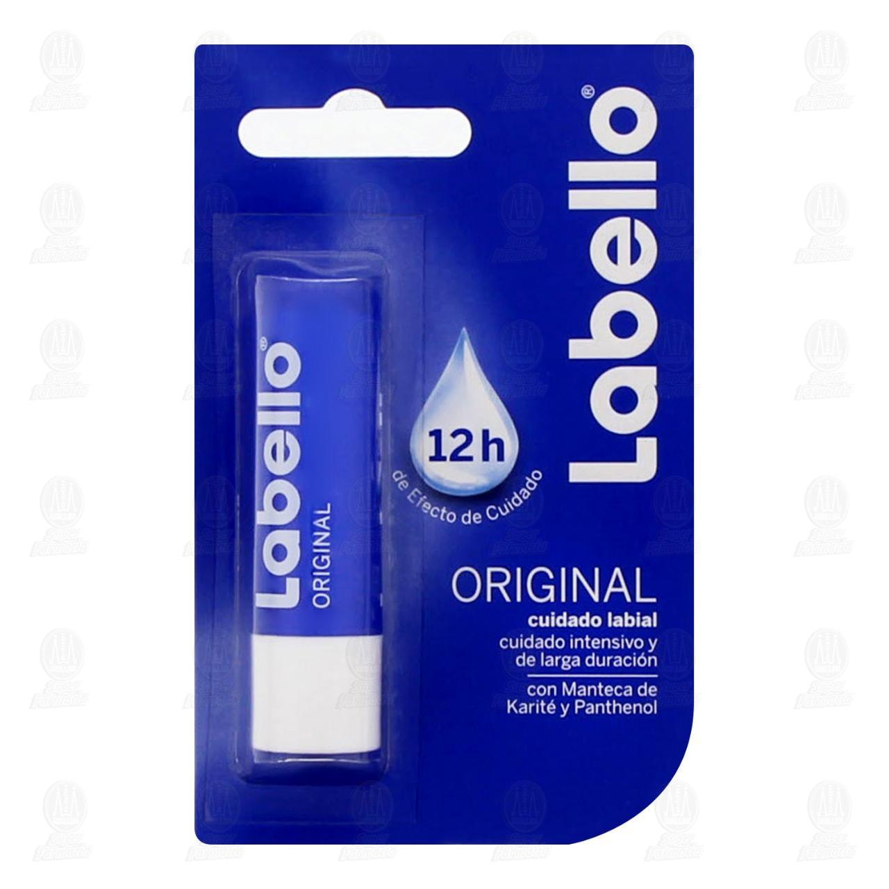 Protector labial Labello Original 12 horas de Cuidado, 4.8 gr.