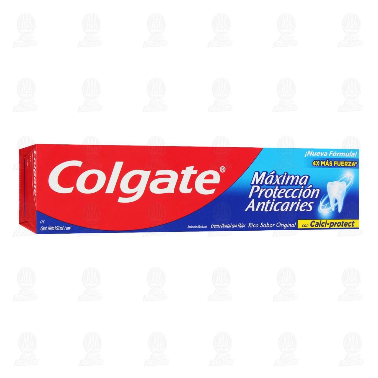 Comprar Pasta Dental Colgate Máxima Protección Anticaries, 150 ml. en Farmacias Guadalajara