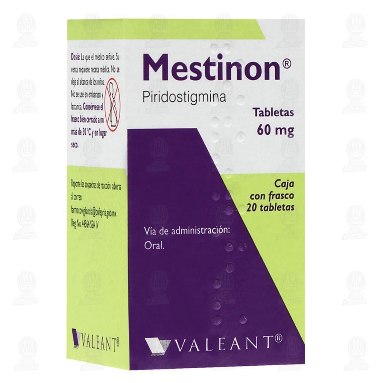 Comprar Mestinon 60mg 20 Tabletas en Farmacias Guadalajara