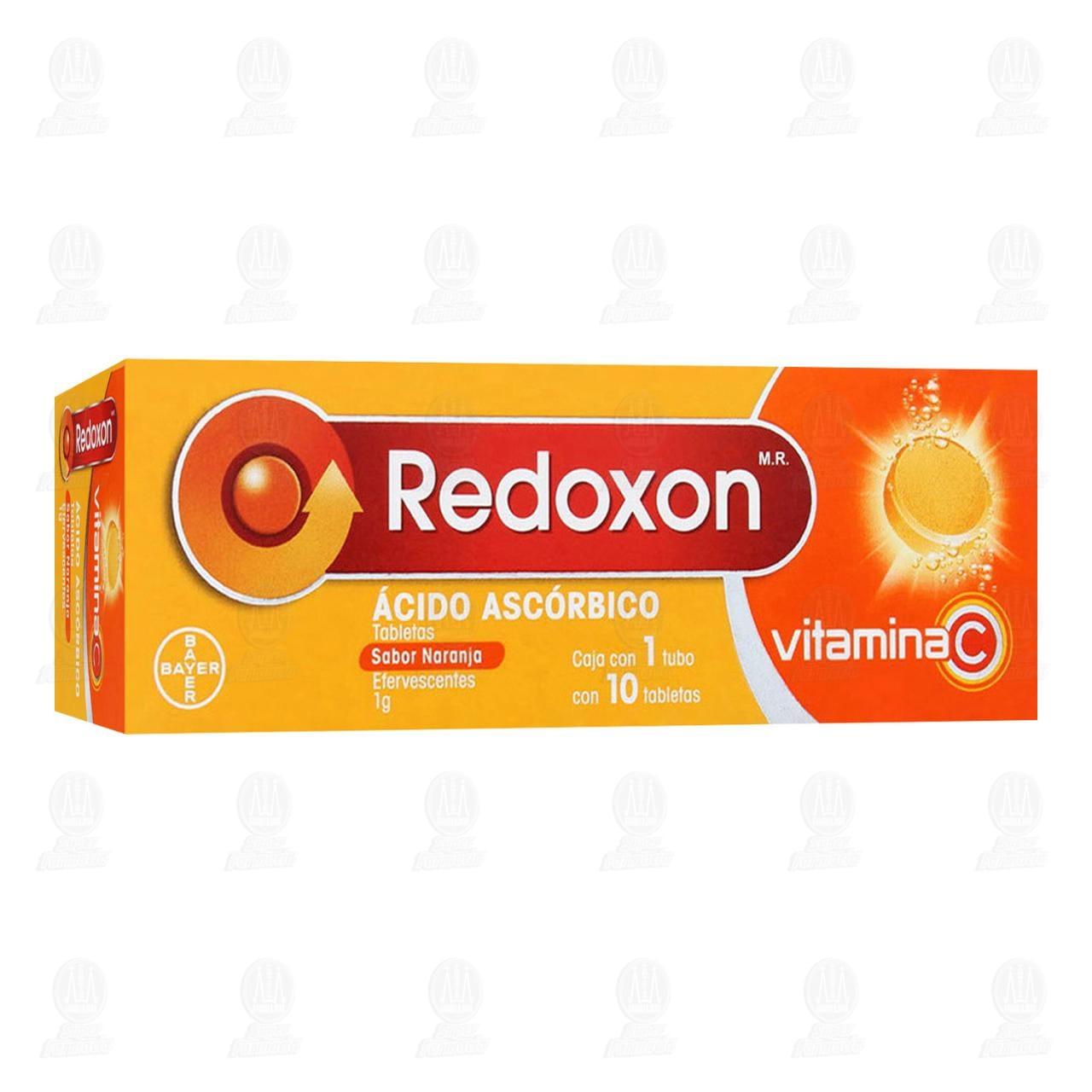 Comprar Redoxon 1gr Vitamina C Sabor Naranja 10 Tabletas Efervescentes en Farmacias Guadalajara