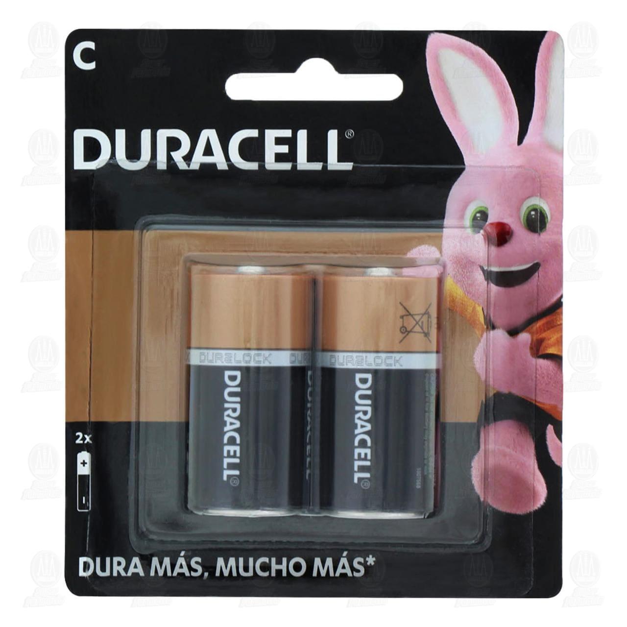 Comprar Pilas Duracell Alcalinas C, 2 pzas. en Farmacias Guadalajara