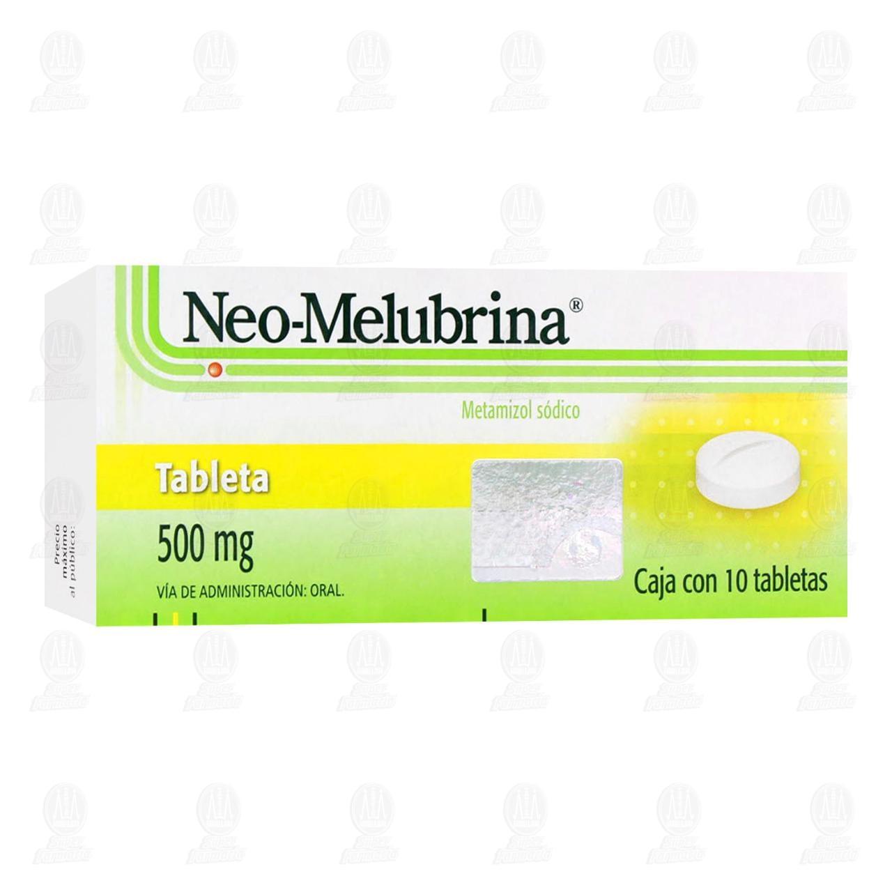 Comprar Neo-Melubrina 500mg 10 Tabletas en Farmacias Guadalajara