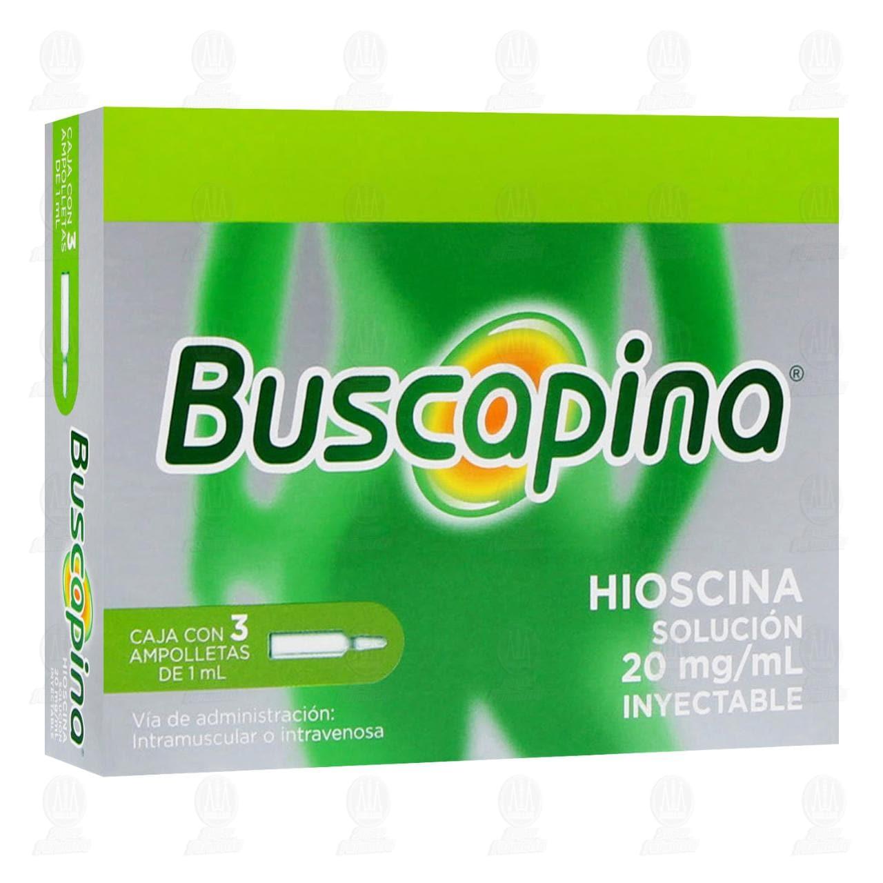 Comprar Buscapina 3 Ampolletas 1ml 20mg en Farmacias Guadalajara