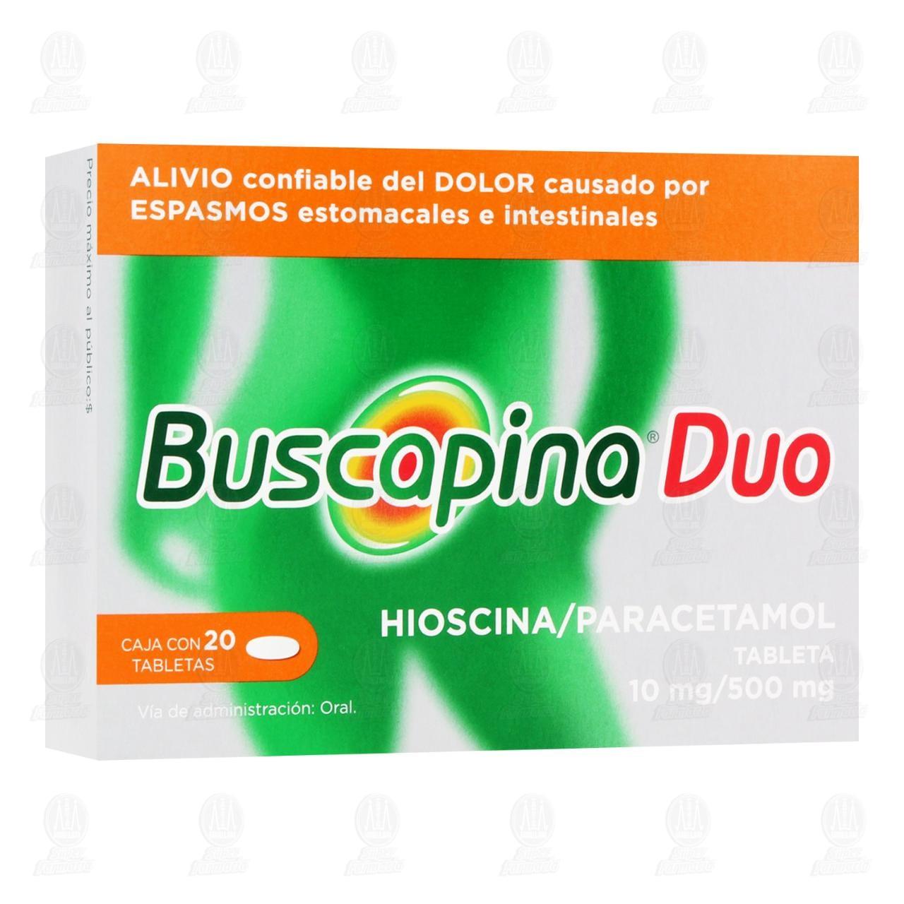 Comprar Buscapina Duo 10mg/500mg 20 Tabletas en Farmacias Guadalajara
