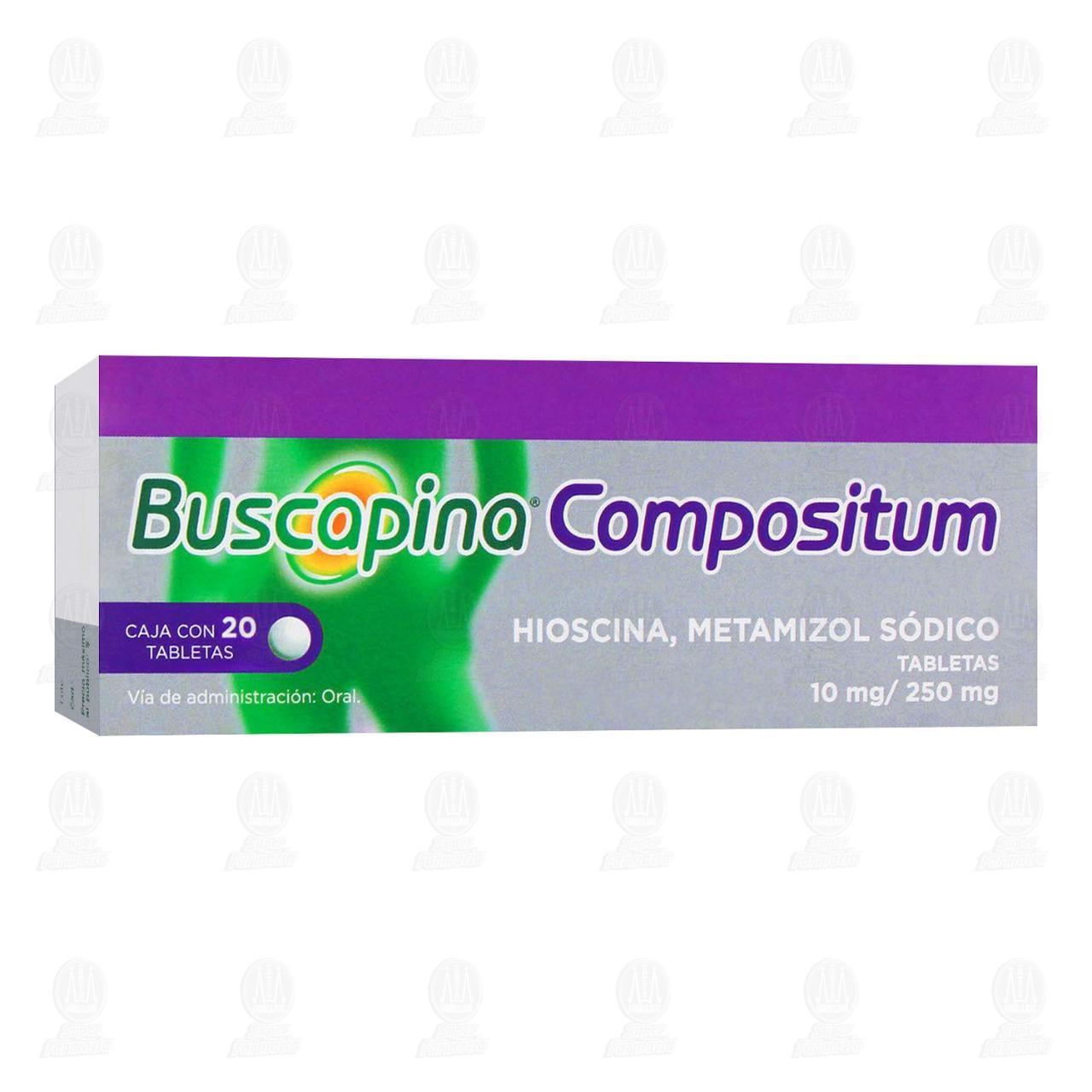 Comprar Buscapina Compositum 10mg/250mg 20 Tabletas en Farmacias Guadalajara