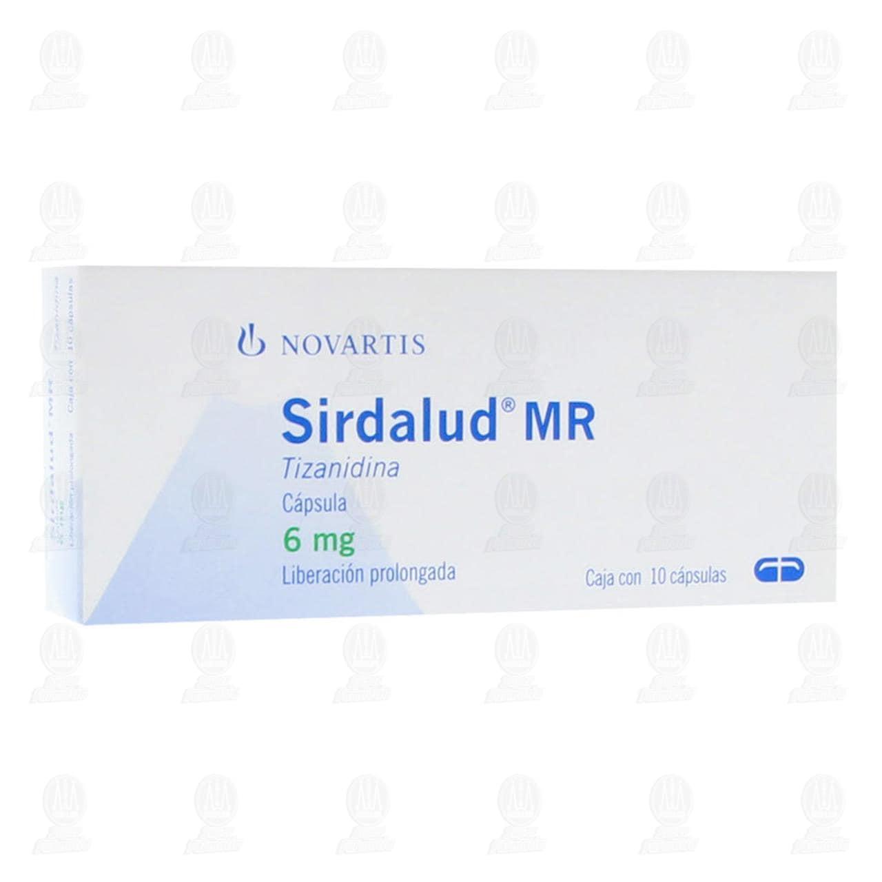 Sirdalud MR 6mg 10 Cápsulas Liberación Prolongada