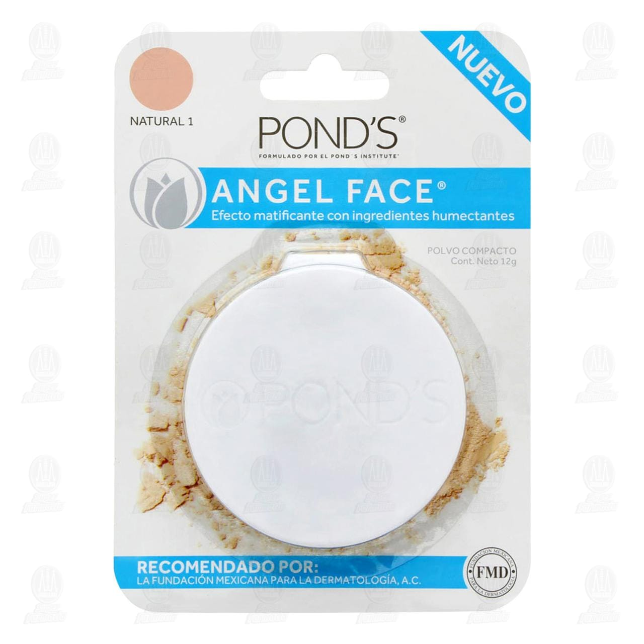Maquillaje en Polvo Pond's Angel Face Color Natural 1, 12 gr.