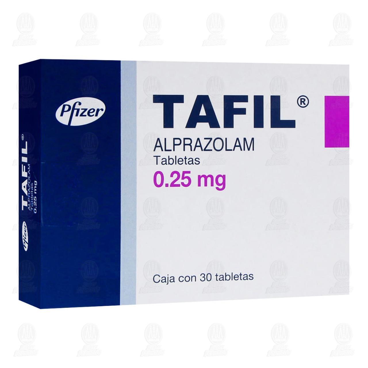 Comprar Tafil 0.25mg 30 Tabletas en Farmacias Guadalajara