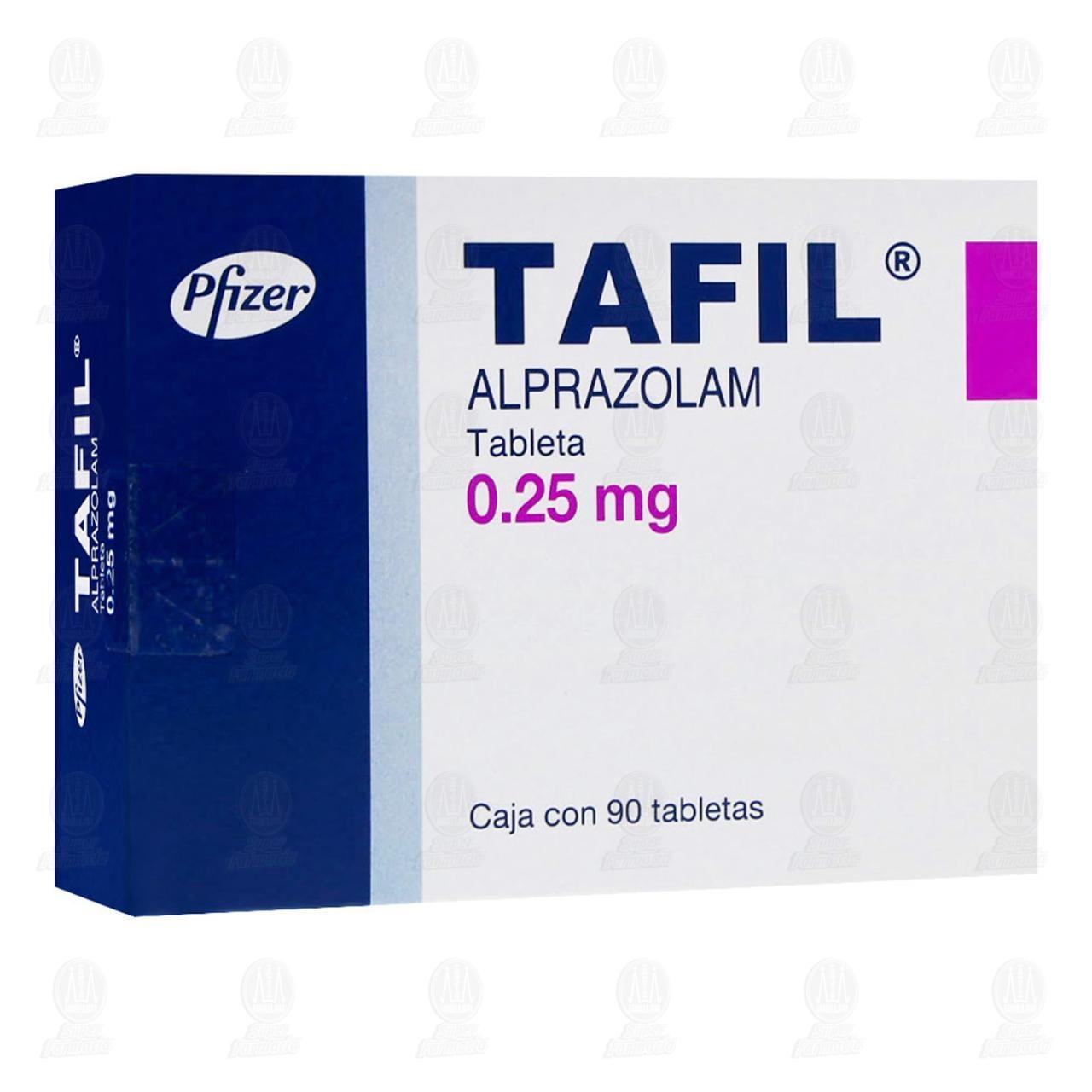 Comprar Tafil 0.25mg 90 Tabletas en Farmacias Guadalajara