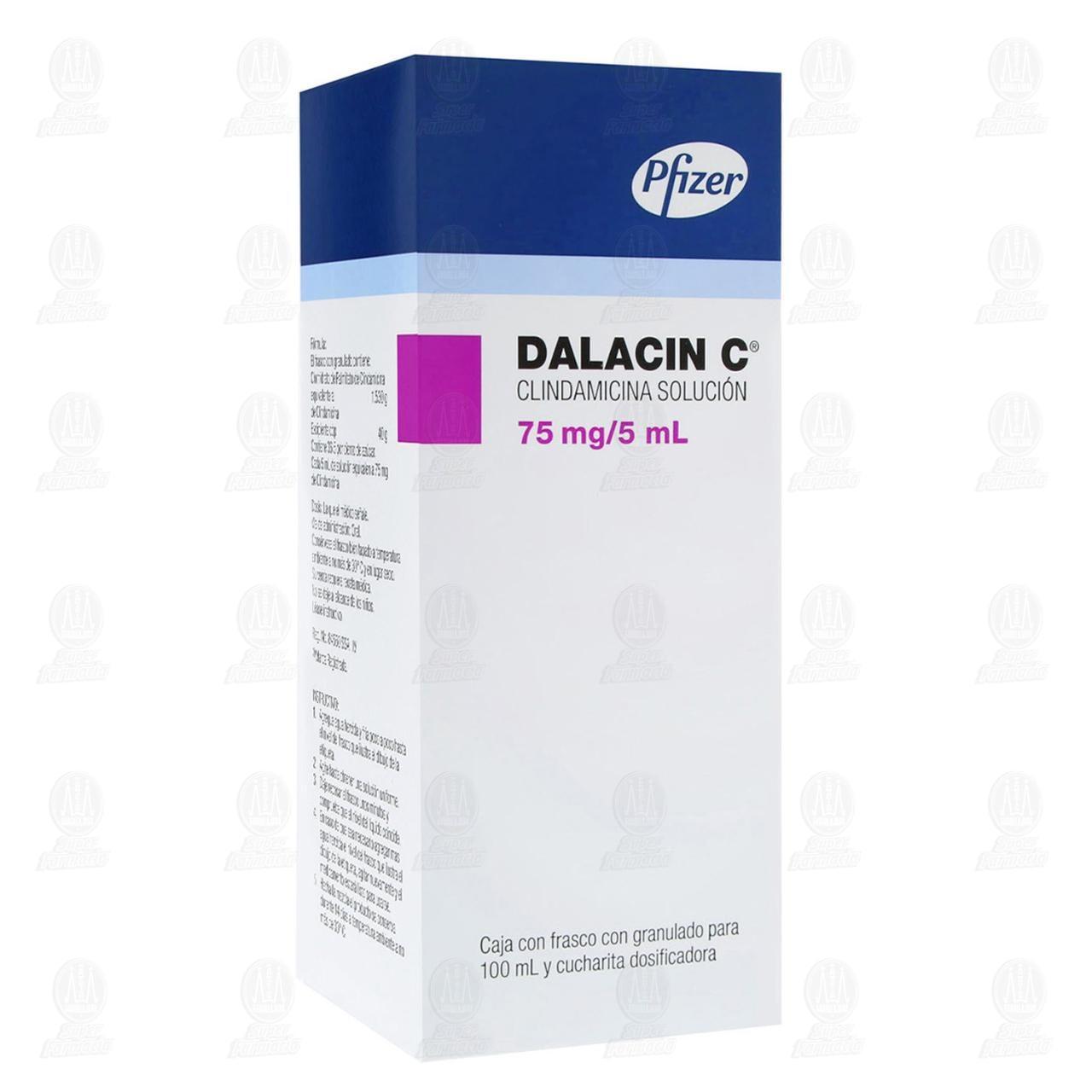 Comprar Dalacin C 75mg/5ml 100ml Solución en Farmacias Guadalajara