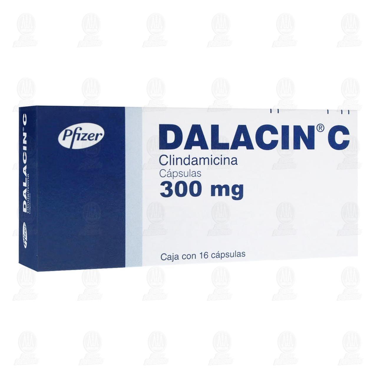 Comprar Dalacin C 300mg 16 Cápsulas en Farmacias Guadalajara