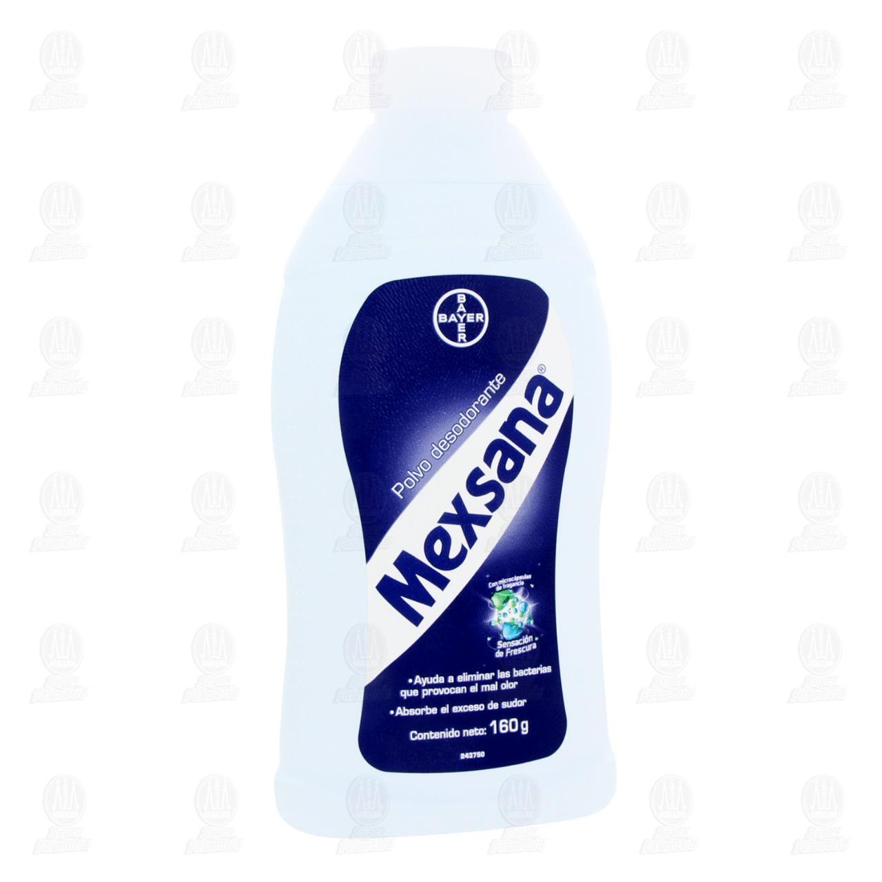 Comprar Mexsana Polvo Desodorante, 160 gr. en Farmacias Guadalajara