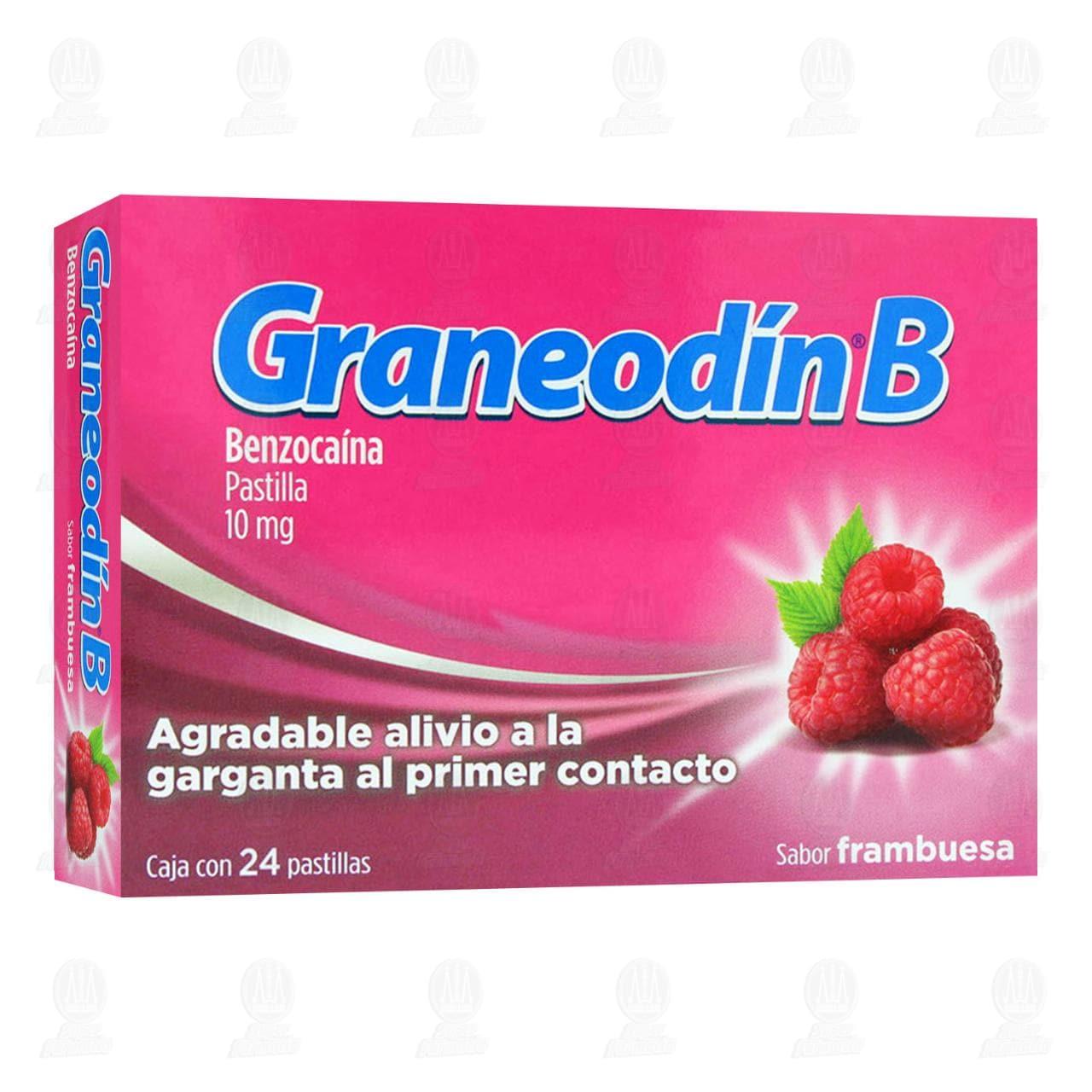 Comprar Graneodín B Sabor Frambuesa 24 Pastillas en Farmacias Guadalajara