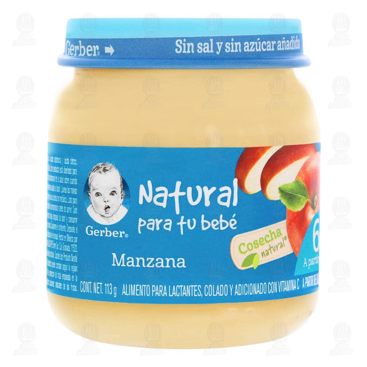 Comprar Papilla Gerber Cosecha Natural de Manzana, a Partir de los 6 Meses, 113 gr. en Farmacias Guadalajara