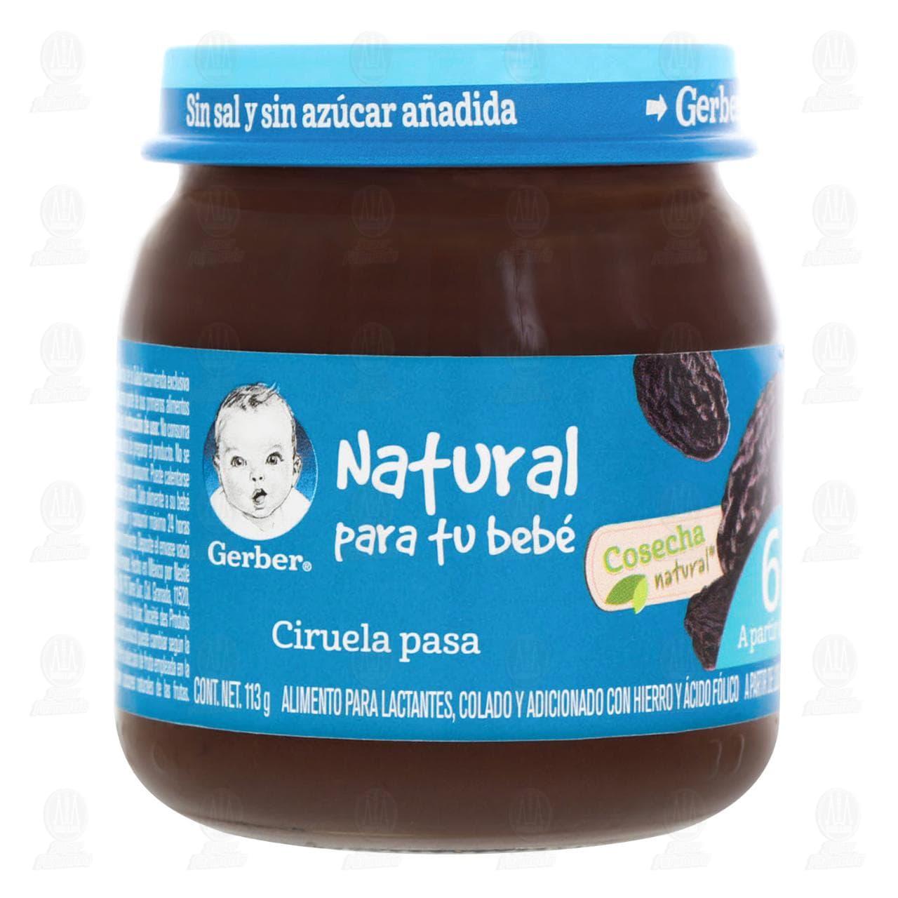 Comprar Papilla Gerber Cosecha Natural de Ciruela Pasa, a Partir de 6 Meses, 113 gr. en Farmacias Guadalajara