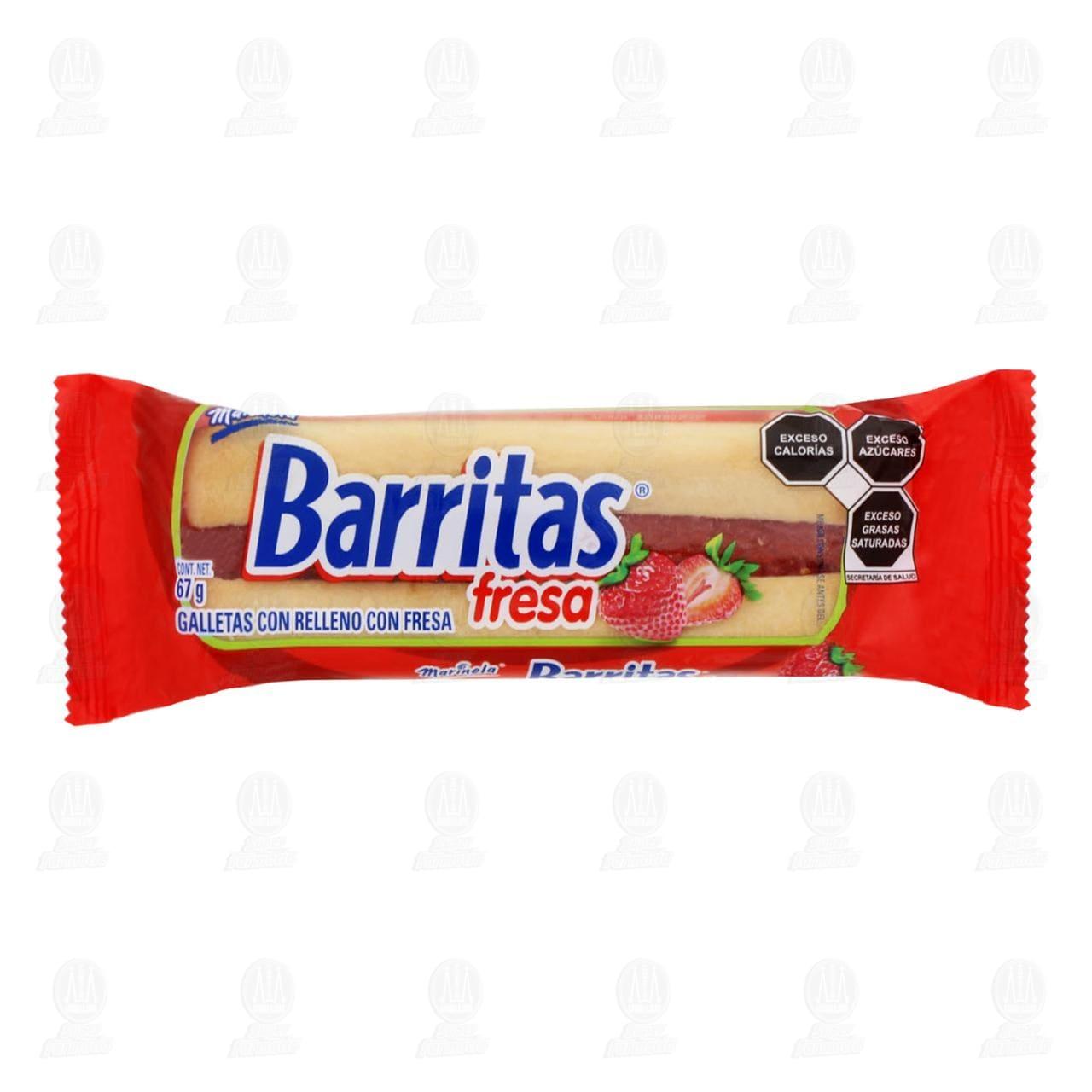 Galletas Barritas Marinela de Fresa, 75 gr.