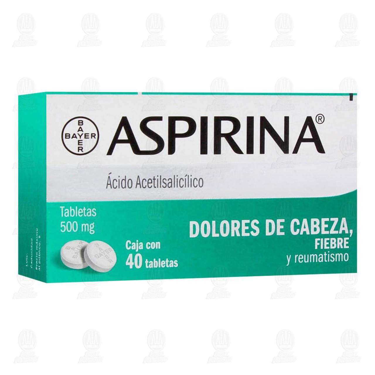 Aspirina 500mg 40 Tabletas