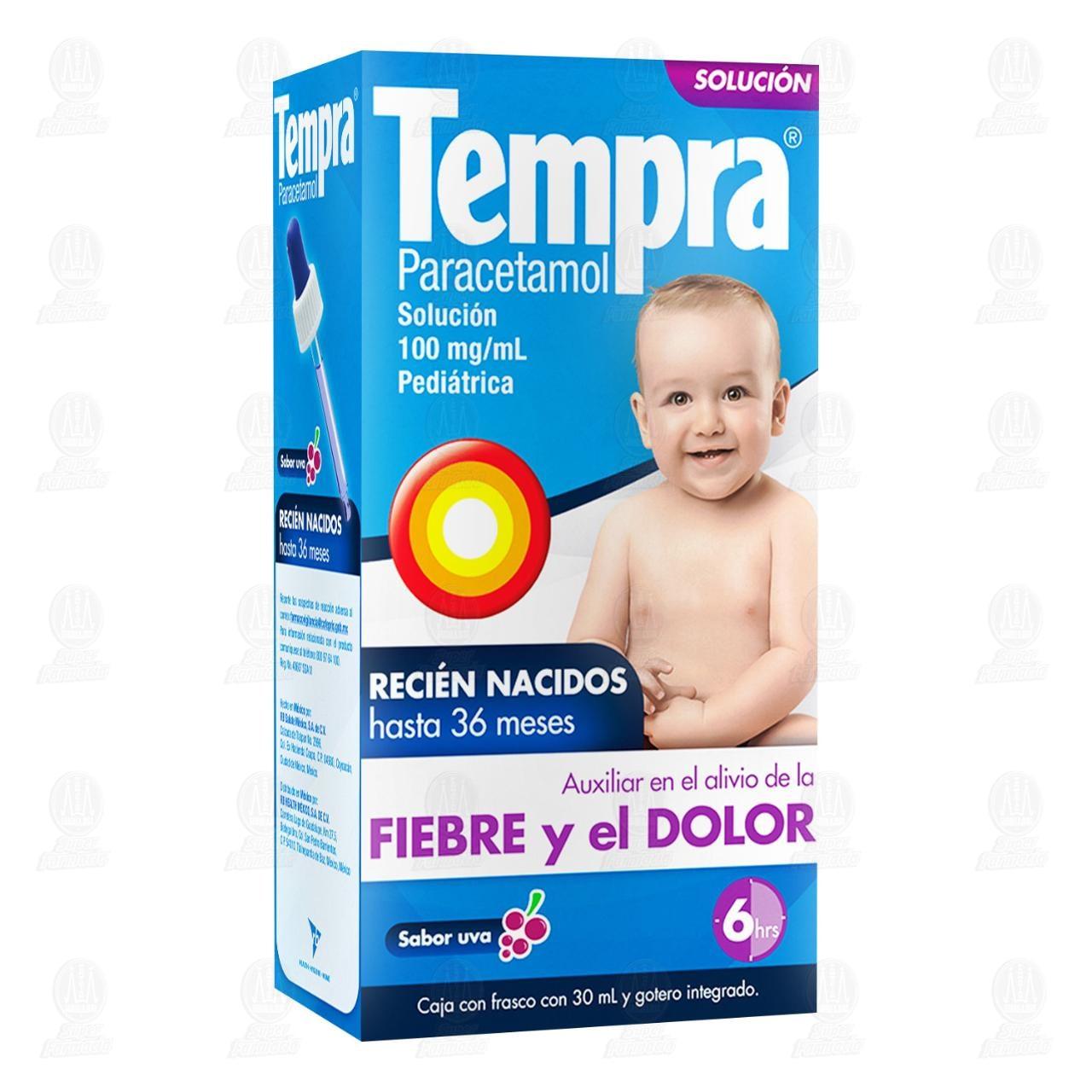 Comprar Tempra Gotas Pediátricas Sabor Uva 30ml en Farmacias Guadalajara