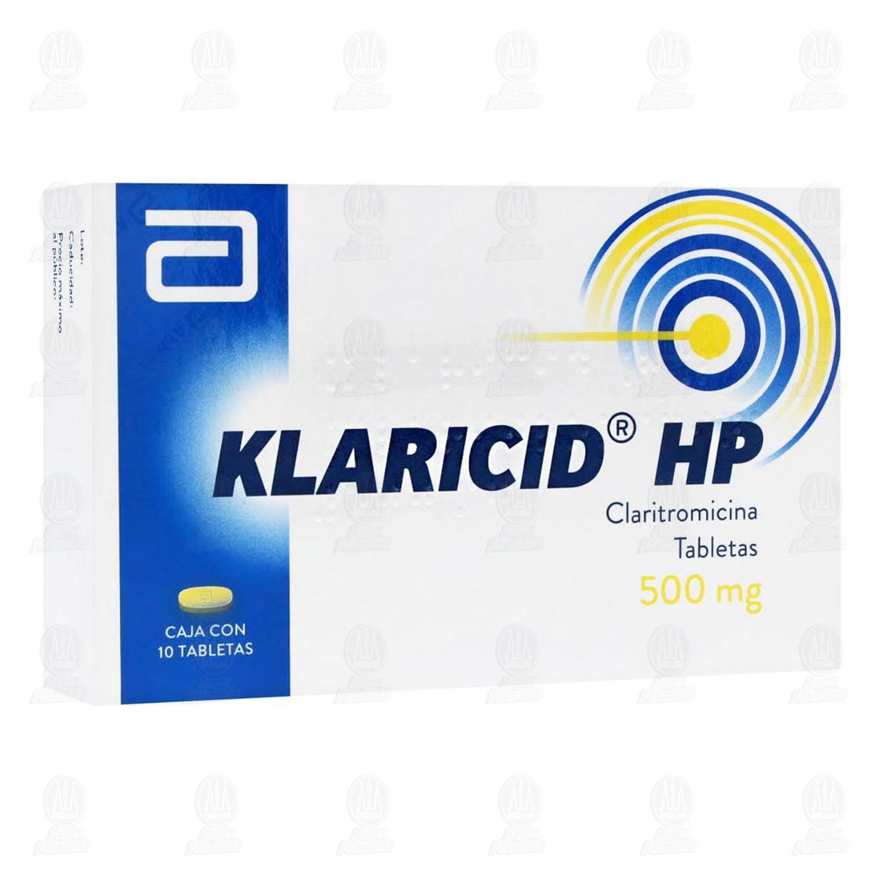 Comprar Klaricid HP 500mg 10 Tabletas en Farmacias Guadalajara